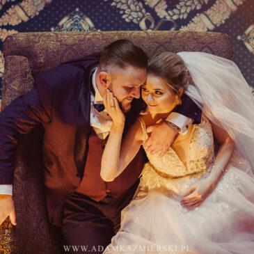 Plener ślubny w Bursztynowym Pałacu.